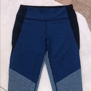 Outdoor Voices Pants - Outdoor Voices Blue Tri-tone Warmup Leggings